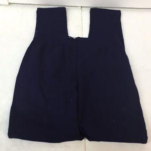 NWT Classic Navy Blue Leggings Size L Women's